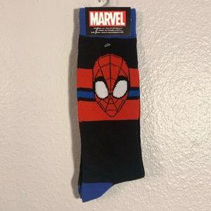 Marvel Spider-Man Men's Novelty Crew Socks